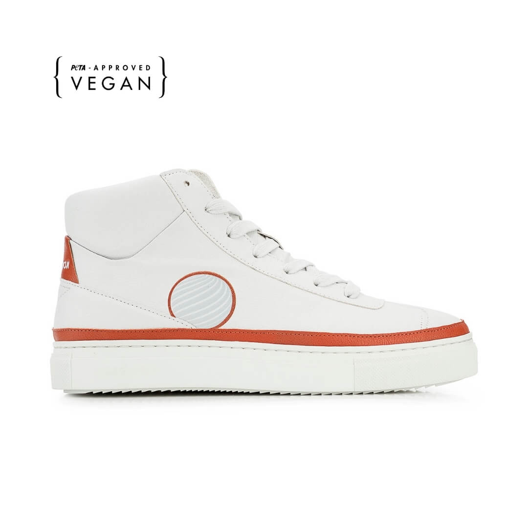 duurzaam product: Komrads APL - Earth Red - High Top - Vegan Sneakers