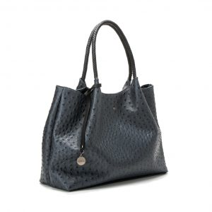 Naomi Dark Grey tote shopper zijkant