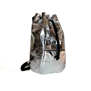 Kaliber Fashion - Vegan Backpack - pineapple, zilver voorkant