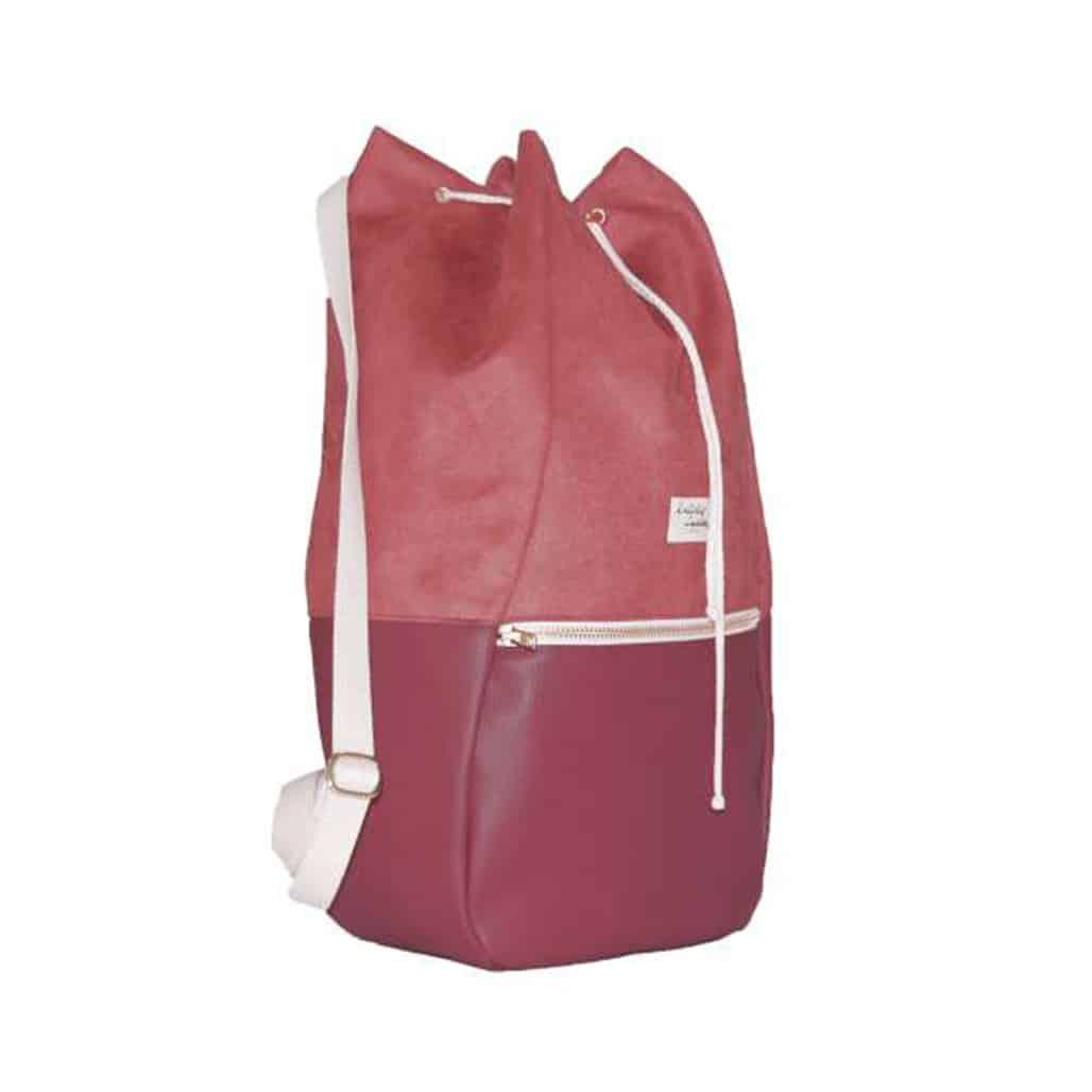 duurzaam product: Kaliber Fashion - Backpack Red Rugtas Rugzak Veganistisch Rood