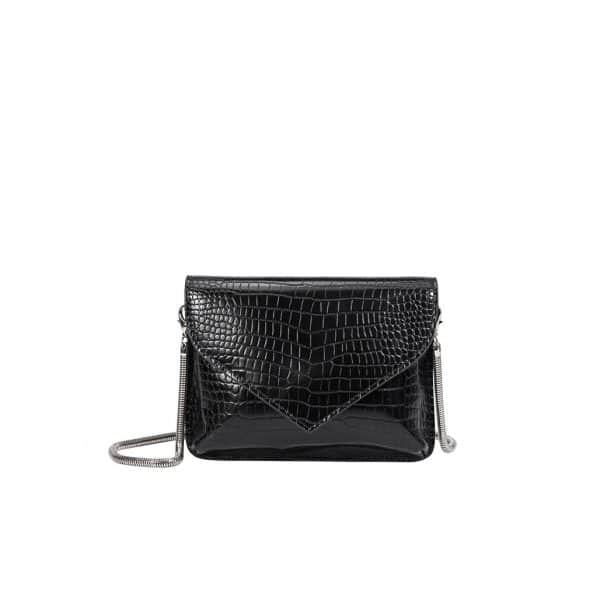 Meli Bianco - Anna Black Vegan Crossbody / Clutch voorkant