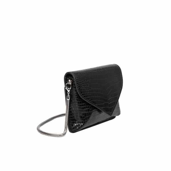 Meli Bianco - Anna Black Vegan Crossbody / Clutch zijkant