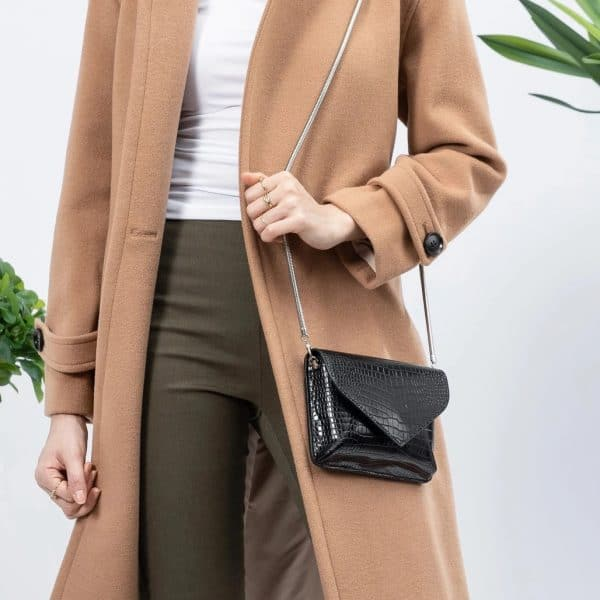 Meli Bianco - Anna Black Vegan Crossbody / Clutch
