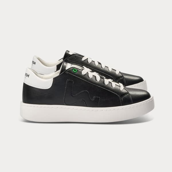 duurzaam product: Womsh Vegan Concept Black White Vegan Sneaker